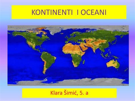 PPT - KONTINENTI I OCEANI PowerPoint Presentation - ID:5312139