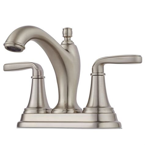 Pfister Ashfield Faucet Home Depot by Pfister Ashfield 4 In Centerset 1 Handle Bathroom Faucet
