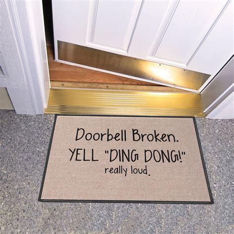 Screaming Doormat by Exclusive Doorbell Broken Yell Ding Dong Really Loud