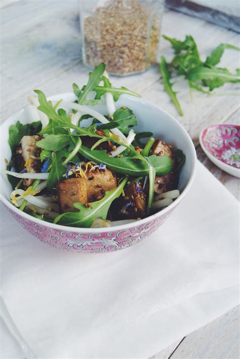 cuisiner tofu poele salade de tofu poêlé au sésame meg cook