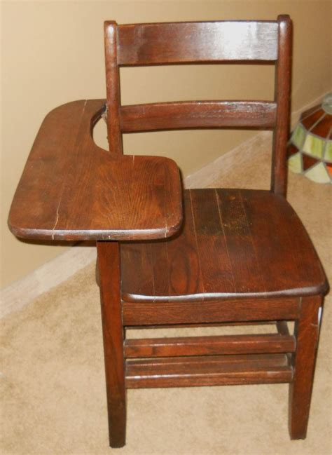 antique school desk chair from usaf air