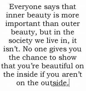 Everyone says t... Outside Beauty Quotes