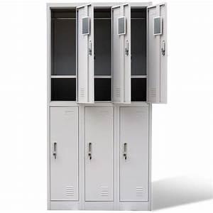 Armoire 6 Portes : acheter armoire 6 portes de casier gris pas cher ~ Teatrodelosmanantiales.com Idées de Décoration