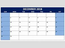 Free 2018 December Landscape & Portrait Calendar {Download