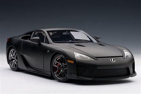 lexus black matte black lexus lfa die cast model by autoart lexus