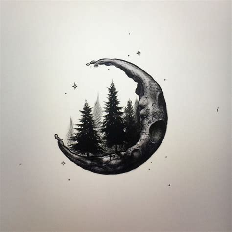 crescent moon ink cover tattoo nature tattoos tattoos