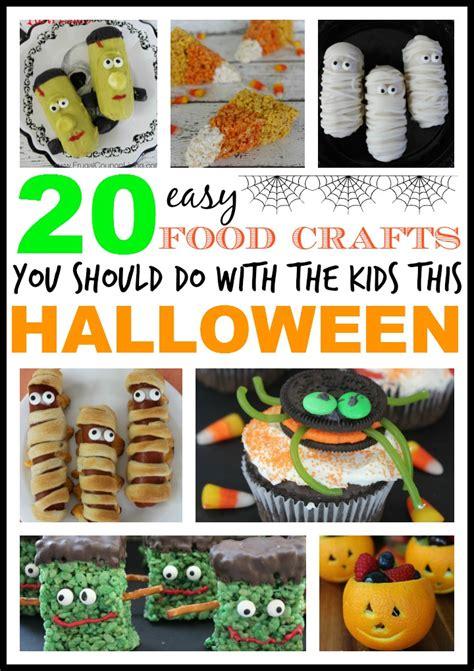 20 Easy And Fun Kids Halloween Food Crafts