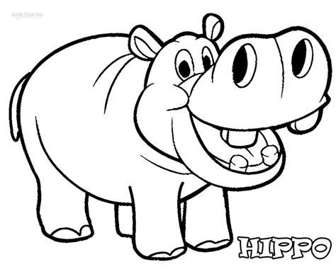 Dibujos de Hipopótamos para colorear Páginas para