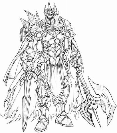 Fantasy Coloring Pages Concept Knight Character Adult