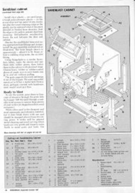 diy sandblast cabinet plans pro wooden guide access blast cabinet plans