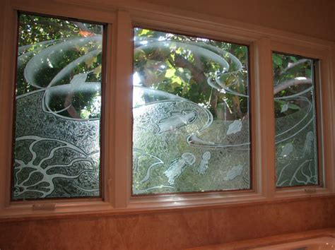 carved custom glass etched glass windows california