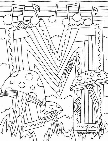 Coloring Doodle Alley Letter Letters Alphabet Colouring