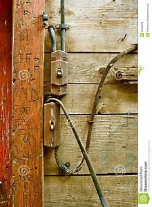 Old Electrical Wiring System Stock Photo