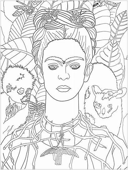 Frida Kahlo Colorear Coloring Arte Adultos Obra