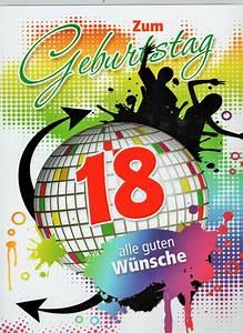 Geburtstagsbilder Zum 18 : geburtstagskarte xxl zum 18 gute w nsche umschlag ~ A.2002-acura-tl-radio.info Haus und Dekorationen