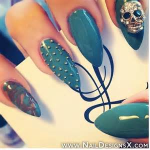 Green stiletto nails nail designs art
