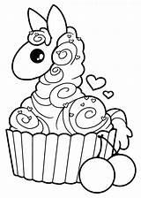 Llama Coloring Cupcake Kawaii Alpaca Drawing Yampuff Lineart Colouring Clipart Drawings Printable Llamas Sheets Para Cupcakes Colorir Deviantart Line Coloriage sketch template
