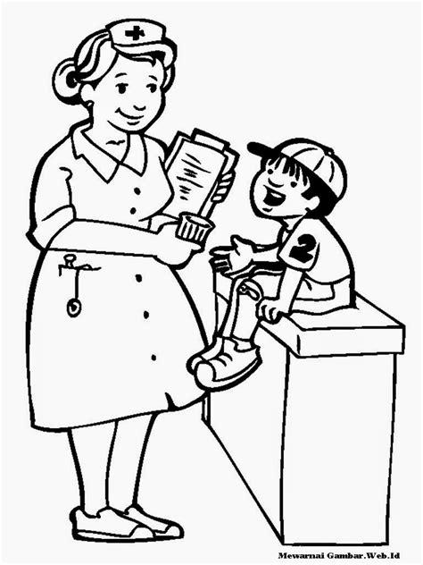 gambar kartun dokter sedang memeriksa pasien aliansi kartun