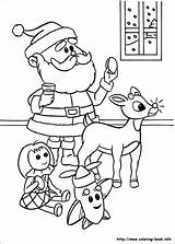 Rudolph Coloring Reindeer Nosed Colouring Printable Sheets sketch template
