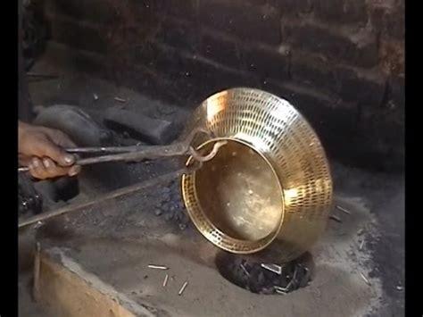 traditional brass  copper craft  utensil making   thatheras  jandiala guru youtube