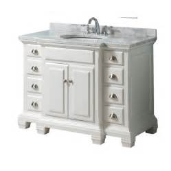 shop allen roth vanover white undermount single sink birch bathroom vanity with marble