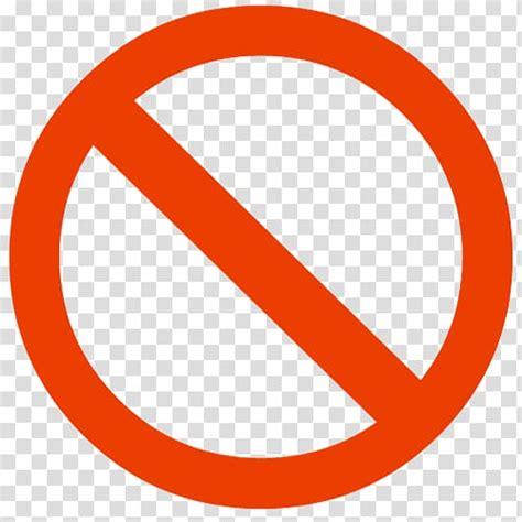 Red Circle With Line Sign No Symbol Circle Red Circle