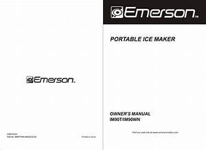 Emerson Ice Maker Im90t User Guide