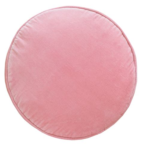 Baby Pink Velvet Penny Round Cover  Castle And Things
