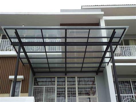 gambar kanopi kaca rumah modern eksterior rumah