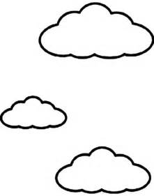 Cloud Coloring Page Drawing