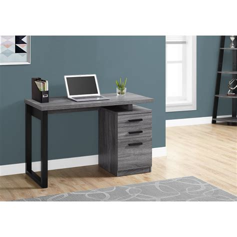 gray  black small office desk rc willey furniture store