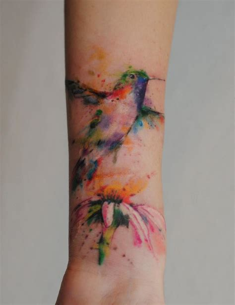 awesome forearm tattoos hummingbird tattoo