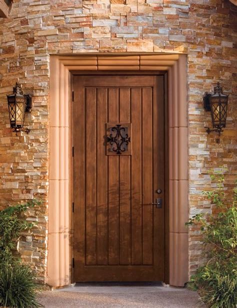 jeld wen custom fiberglass  mahogany woodgrain door