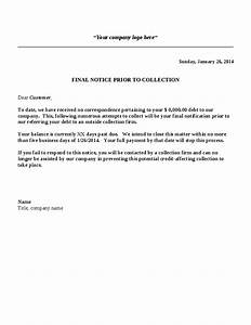 Collection Letter Template – Final Notice  Hashdoc