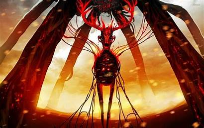 Deer Skeleton Demonic Wallpapers Demon King Dark