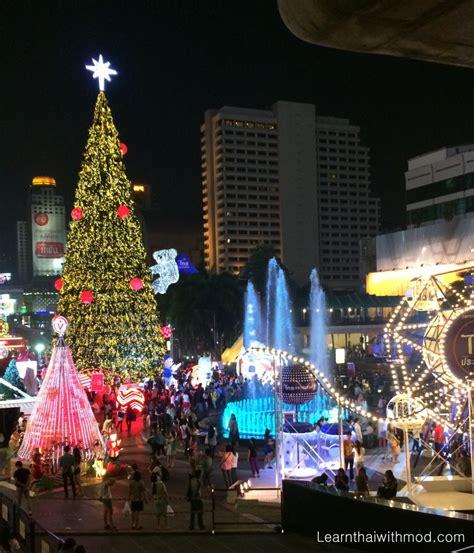bangkok s christmas lights learn thai with mod