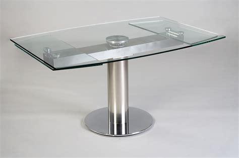 table de cuisine en verre avec rallonge table contemporaine en verre avec rallonge