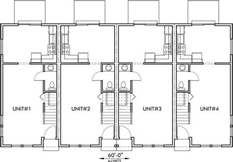 townhouse plans narrow lot 4 plex plans townhome plans 15 ft wide house plans narrow lot