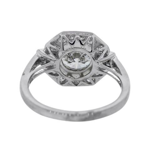 platinum deco inspired engagement ring boca raton