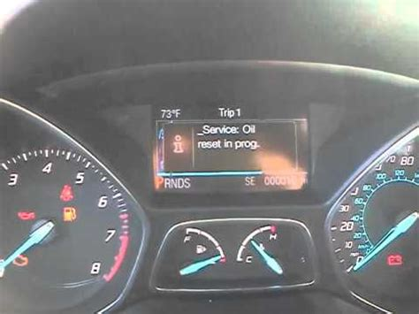 2013 ford escape check engine light 2013 ford escape oil life reset youtube