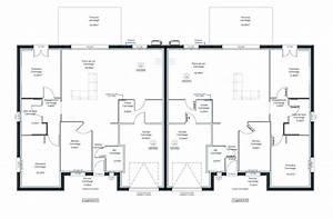 plan maison jumelee jumelace en l de mitoyenne par le With plan maison mitoyenne par le garage