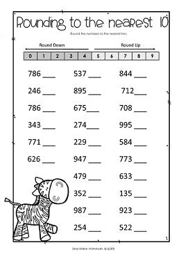 Rounding Nearest Ten Worksheets For 2nd Graders Math Rounding Best Free Printable Worksheets