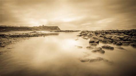 picture beach sepia landscape sea dawn seascape