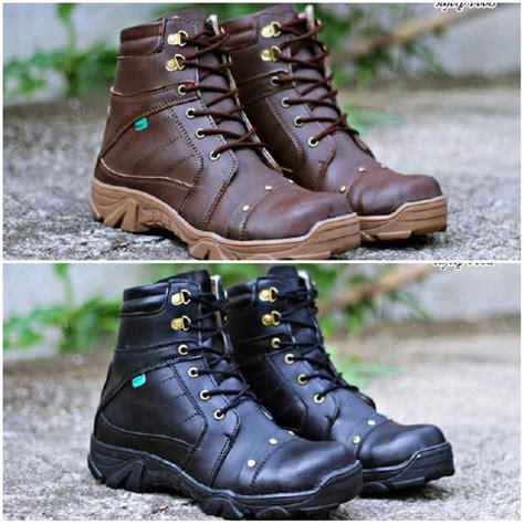 jual sepatu pria kickers delta boots safety kulit asli gudang sepatu murah original