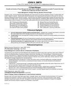 software implementation project manager resume sle it project manager resume 9 exles in word pdf