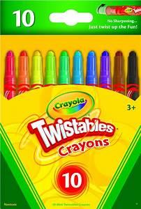Crayola 9715 Twistables Crayons 10 Pack Colors Art School ...