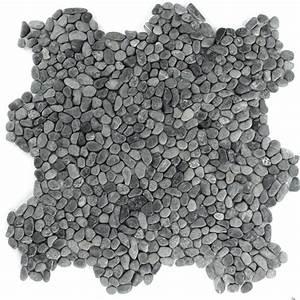 Mosaik Fliesen Kaufen : kieselstein flussstein kiesel stein mosaik fliesen schwarz mini bad ebay ~ Frokenaadalensverden.com Haus und Dekorationen