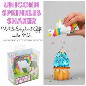 Unicorn Sprinkle Shaker $10 and Other White Elephant Gifts