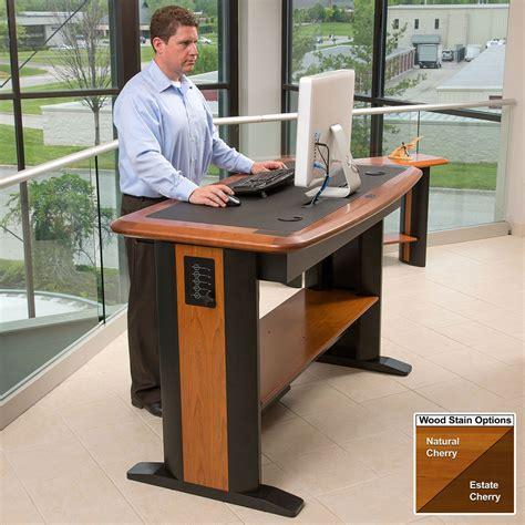 office max stand up computer desk standing computer desk 2 caretta workspace