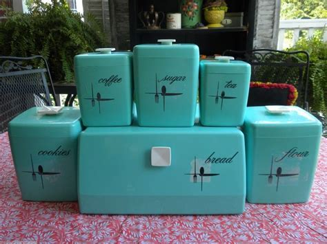 Details about Vintage Atomic Aqua Blue 11 PC LUSTRO WARE